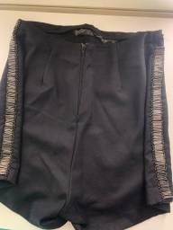 Título do anúncio: Short saia preto com strass
