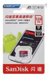 Cartão de memória Sandisk de 128 GB classe 10, U1