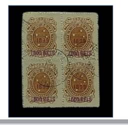 Título do anúncio: Vendo quadra de selos tipo cruzeiro sobretaxa alto valor catalogo