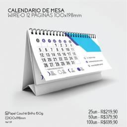 Título do anúncio: Calendario de mesa 2022 personalizado