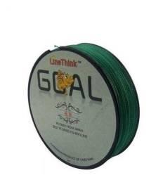 linha multifilamento verde e cinza com 300 mt 0,23 e 0,25 mm