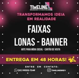 Título do anúncio: FAIXA/LONA E BANNER EM 48HRS!
