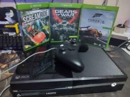 Xbox one fat 500gb 1 controle e  3 Jogos