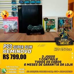 Anubis Games:PS3 super slim com 3 jogos a pronta entrega!!