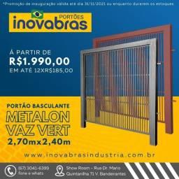 Título do anúncio: Super promoção Portão elevação Metalon Vertical  a partir de R$:1990,00