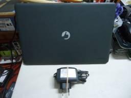 Notebook Positivo Motion Gray Q232A Bateria dura + de 8 Hs Tudo OK! + Fonte