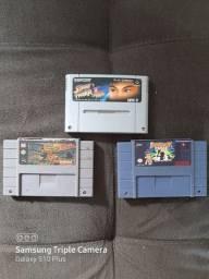 Lote de fitas clássicas super Nintendo leia