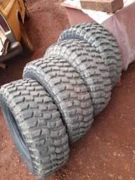 Pneus borrachudos jipe off road