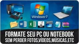 Título do anúncio: Formatação Completa Sem Bakup Pc e Notebook 50$ + Pacote Office Antivirus + Programas
