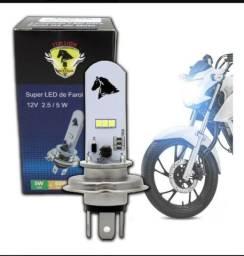 Lampada Farol H4 3 Led 12v 5.0 w 8000k S/ Reator Cavalinho<br><br>