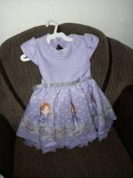 Alugo vestidos de festa Princesinha Sofia Tam 1 e 2