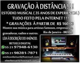 Gravação à Distância - Estúdio Musical Betuels Digital - Gravações no estúdio tbm.