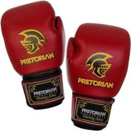 Luva Muay Thai Boxe Pretorian - Vermelho E Preto Como Nova