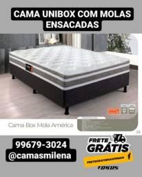 Título do anúncio: CAMA COM MOLAS ENSACADAS ALTO LUXO {ENTREGA GRÁTIS}