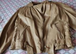 Jaqueta de couro ecológico nova