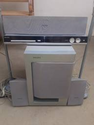 Home Theather Philips 5.1 - 1000 Wrms com DVD