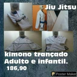 Kimonos Trançado Profissional Jiu Jitsu Diversos tamanhos cores Promoção Atacado