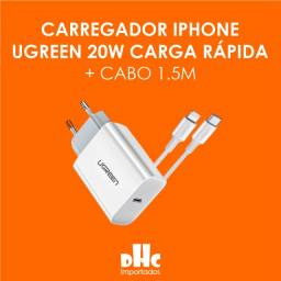 Carregador iPhone 8-12 Turbo Charger 20w + Cabo 1,5m Ugreen