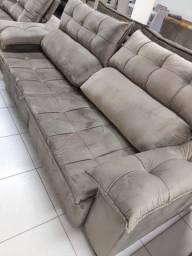 Sofá retrátil e reclinável novo a pronta entrega