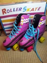 Roller skate soy luna Rosa 4 rodas tamanho 41