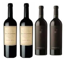 Kit 4 Vinhos /2 Dv Catena Cabernet Malbec+2 Alma Negra