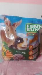 Ração Funny Bunny 1,800 kg + 500 gr de ração para coelho/roedores