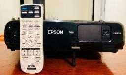 Projetor Epson Powerlite S18+ 3000 Lumens Com HDMI + Tela Nova 2,70 X 1,88 - TOP