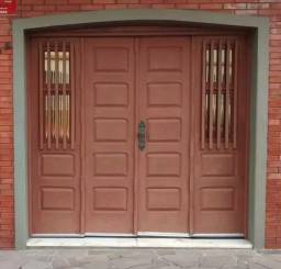 Portão de garagem (2,40 L x 2,20 A madeira maciça - Canela)