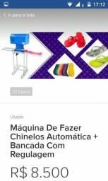 Maquina de fabricação de chinelos