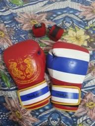 Luva kickboxe e boxe