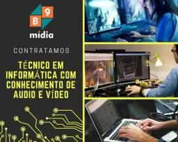 Técnico em informática e audio/vídeo