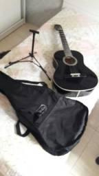 Violão + tripé + bolsa de transporte