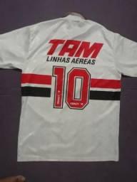 Camisa Oficial do São Paulo TAM Linhas Aéreas Penalty bb0aa721bb218