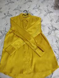 Linda camisa social amarela/gold