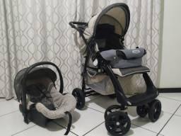Carrinho, bebê conforto e ninho para recém nascido