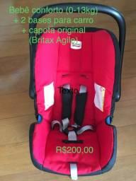 Bebê conforto com base para carro