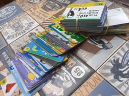 Lote de cartões telefônicos