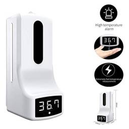 Dispenser De Álcool Gel Automático Com Termômetro Digital