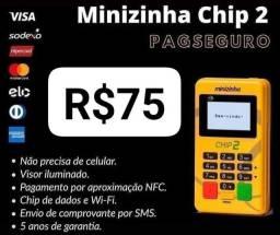Maquininha PagSeguro Chip2 aceito cartão