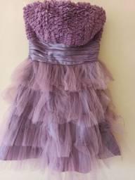 Vestido de Tule Roxa