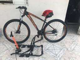 Bike OGGI MAIS SUPORTE + bomba de paneu+ capacete