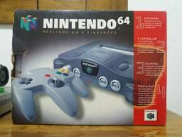 Nintendo 64 na caixa