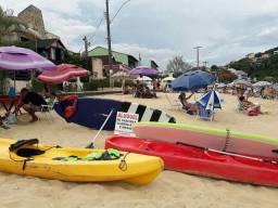 Kit para lazer na praia, aluguel de caiaque prancha stand up