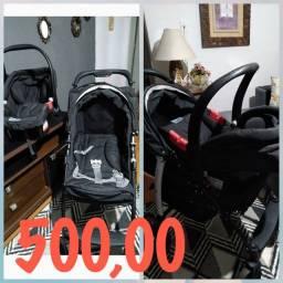 Carrinho bebê, berço, andador e cadeira de alimentação