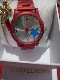 Relógio mais pulseira feminino