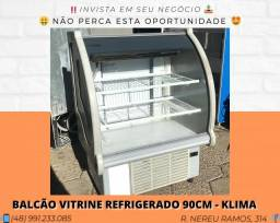 Balcão vitrine refrigerado 90cm com digital - Klima | Matheus