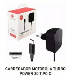 Carregador Motorola tipo c turbo original
