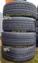 4 Pneus 245 50 R 20 Delinte e Pirelli