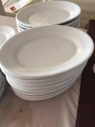 Travessas de porcelana