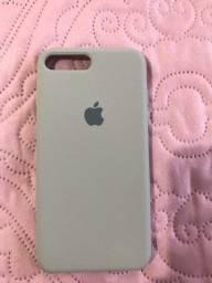 Capinha aveludada iPhone 7/8 Plus cinza